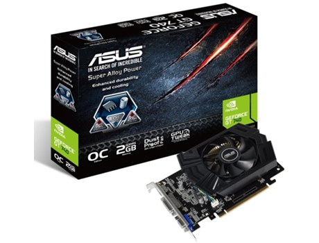 Placa Gráfica ASUS GEFORCE GT740 OC 2GB DDR5 — GeForce GT 740 | 1033 MHz | 2048 SDR