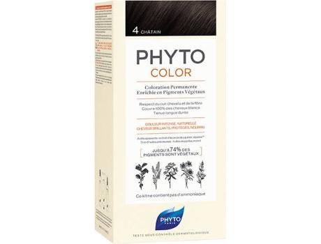 Coloração PHYTO Phytocolor 4 Castanho Coloração Permanente Sem Amoníaco
