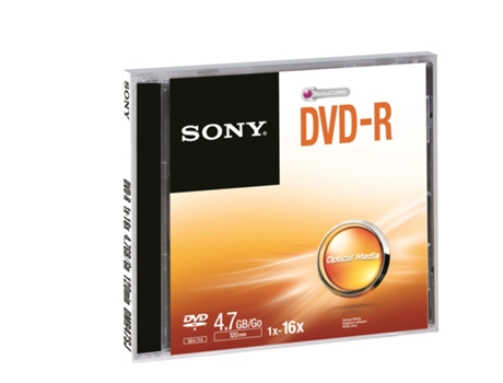 DVD-R SONY 4.7 — 4.7 GB / 16x / 1 unid.