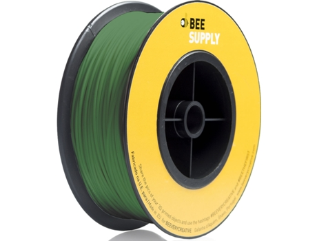 Filamento 3D BEESUPPLY Pla Pure Green — Consumível 3D | 1.75 mm | 330 gr