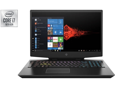 Portátil Gaming HP OMEN 17-CB1000NP (Intel Core i7-10750H - NVIDIA GeForce RTX 2060 -  RAM: 16 GB - 1 TB SSD - 17.3'') — Windows 10 Home
