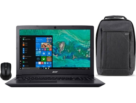 Pack ACER Aspire 3 (Portátil A315-41-R19W + Mochila NP.BAG1A.278 + Rato AMR910) — Windows 10 Home | HD