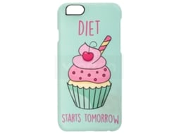 Capa iPhone 6, 6s, 7, 8 I-PAINT Cup Cake Verde — Compatibilidade: iPhone 6, 6s, 7 ,8
