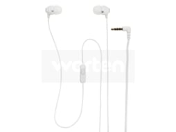 Auriculares Com fio SONY MDR-EX15AP (In Ear - Microfone - Branco) — In Ear | Microfone | Atende chamadas