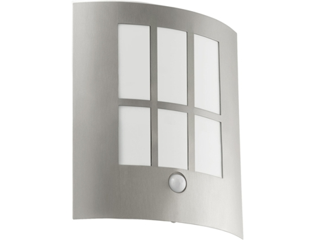 Candeeiro Outdoor com Sensor EGLO City Nickel Mate — Aço / 1 x 3,7 W
