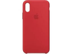 Capa APPLE Silicone iPhone X Vermelho — Compatibilidade: iPhone X
