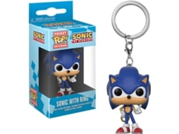 Porta-Chaves FUNKO POP! Sonic: Sonic with Ring — Sonic