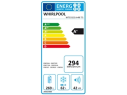 Frigorífico WHIIRLPOOL WTE 3322 NF TS — A+ | No Frost | Refr. 269 L Cong. 62 L