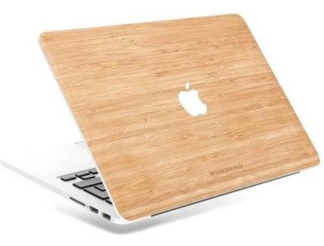 Tampa WOODCESSORIES MacBook Pro 13'' V2016 Verde e Castanho — Compatibilidade: MacBook Pro 13''