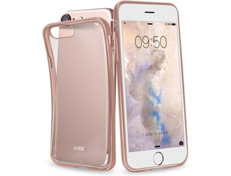 Capa SBS Extra Slim Gold Collection iPhone 7, 8 Rosa — Compatibilidade: iPhone 7, 8
