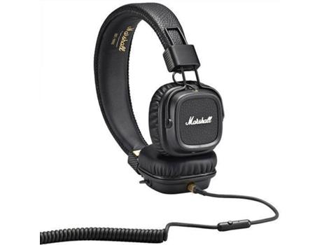 Auscultadores Com fio MARSHALL Major II (On Ear - Microfone - Preto) 5ead1bf7d3