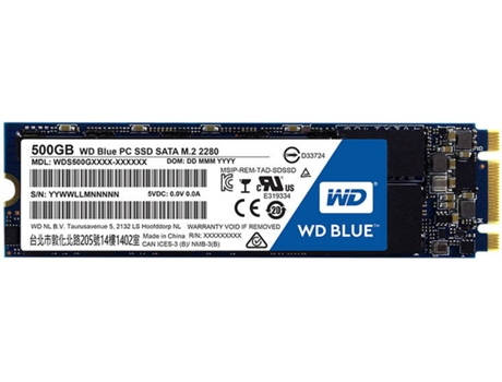 Disco SSD WESTERN DIGITAL Blue Sata M.2 500 GB  — SATA III | 500 GB