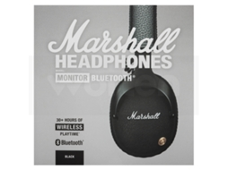 Auscultadores Bluetooth MARSHALL Monitor (On Ear - Microfone - Preto) — On Ear | Microfone | Atende chamadas