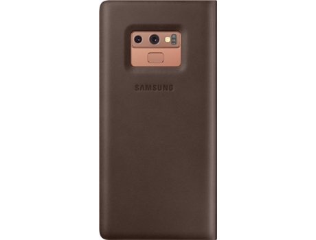 Capa SAMSUNG Galaxy Note 9 Leather Castanho — Compatibilidade: Samsung Galaxy Note 9
