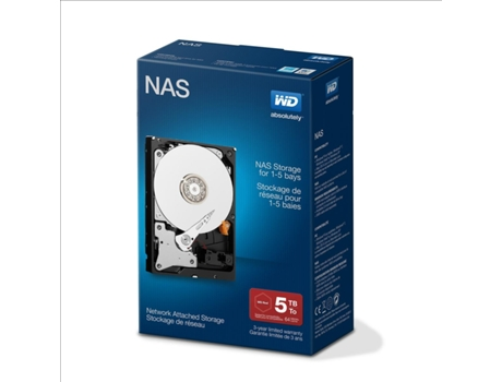 "Disco Interno 3.5"" WD 5TB Red Nas Network — 3.5'' / 5 TB / SATA III"