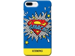 Capa ICEBERG Superman iPhone 6 Plus, 6s Plus, 7 Plus, 8 Plus Azul — Compatibilidade: iPhone 6 Plus, 6s Plus, 7 Plus, 8 Plus